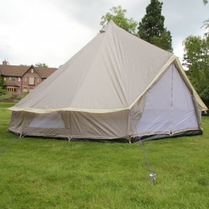 5m Lightweight Zipped In Ground Sheet Bell Tent - Boutique Camping from Boutique Camping UK