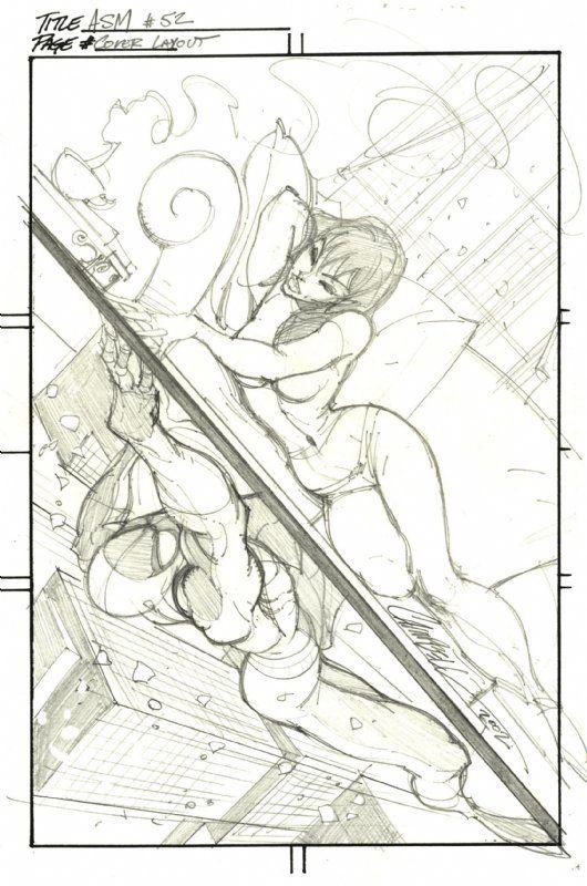 Amazing Spider-Man #52 Prelim by J. Scott Campbell
