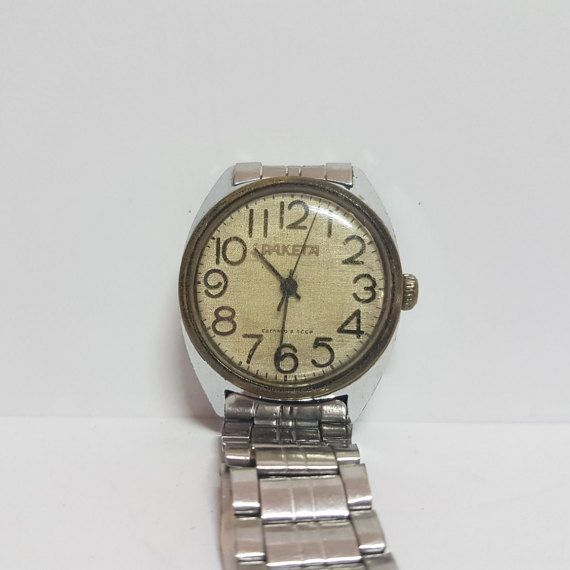 Unique RAKETA - Working - Russian  wind up watch USSR- Wrist - Men's Watch - Working Watch - Vintage Watch - Sale 33% OFF -  1960