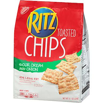 Ritz sour cream and onion toasted chips