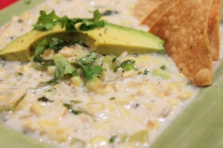 Spicy Roasted Corn Soup @createdbydiane   Soup   Pinterest