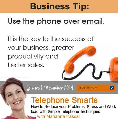 Use the phone over email. #BusinessTips