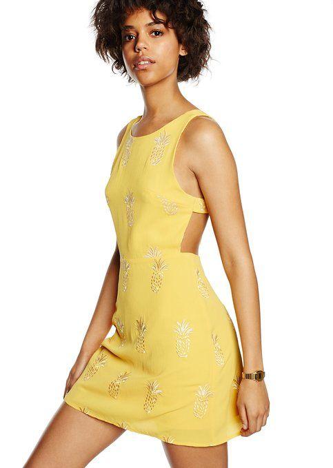 Pepa Loves Geam - Vestido Mujer, Amarillo (Multicolore), XS (Talla del fabricante: 34 (Taille fabricantM)