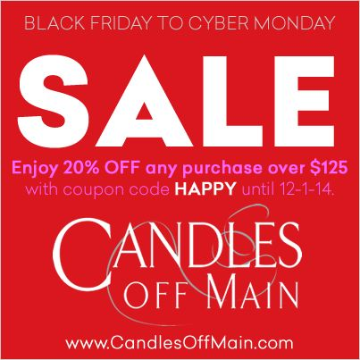 Candles Off Main Coupon Codes Candles Off Main started on a whim in , and they have grown into the largest online community for luxury home fragrance. They Find the right fragrance makes people feel special and beautiful inside.
