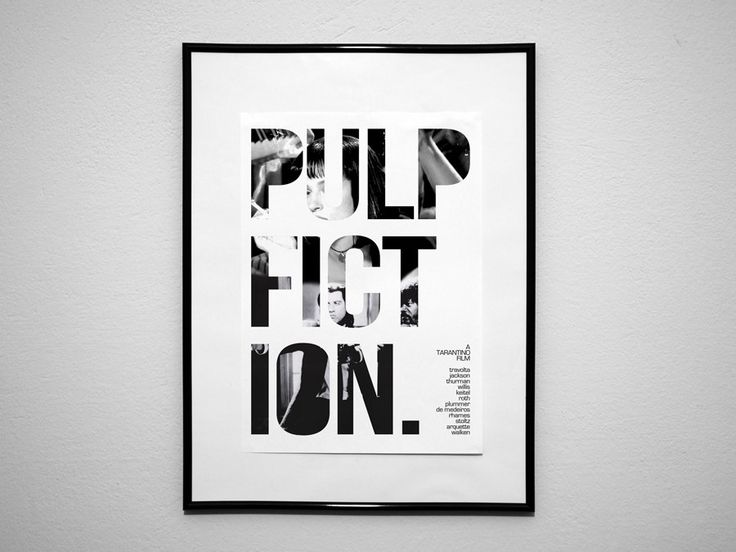 Pulp Fiction Art Print Poster A3. $11.99, via Etsy.