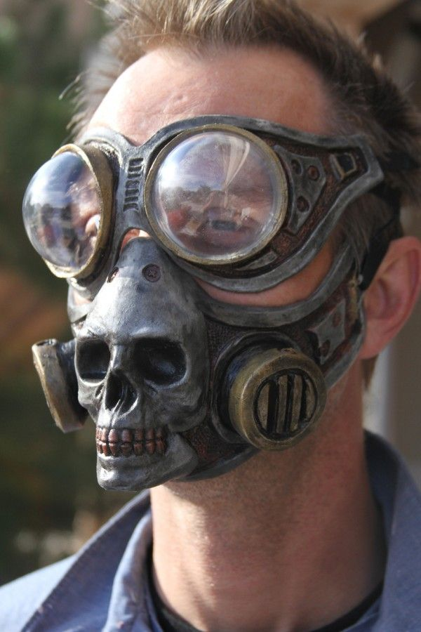 Steampunk Skull Halloween Gas Mask for sale by Gryphon's Egg at MoreThanHorror.com