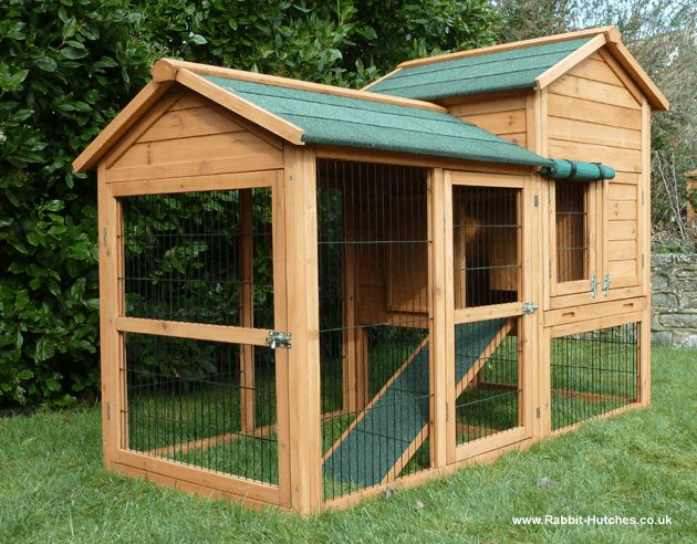 Giant super large rabbit cage the entire run is enclosed for Super pet hutch