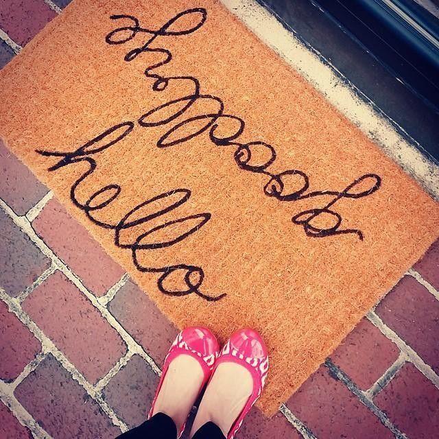 :: Hello/Goodbye Doormat @ Pottery Barn ::                                                                                                                                                                                 More
