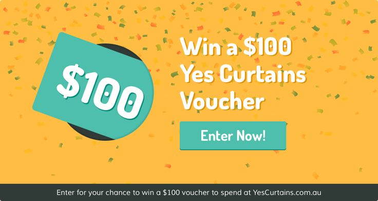 Win a $100 Yes Curtains Voucher! #Curtains #YesCurtains #Competition