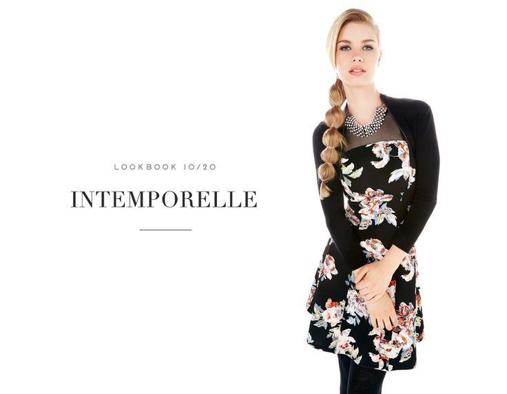INTEMPORELLE // FLOWER FEVER #dress #robe #floral #fleurs #chic #mode #fashion #femme #women #lookbook #fw16