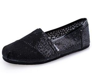 Women Toms Shoes Glitter