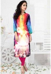DESIGNER PURE GEORGETT DIGITAL PRINT MULTI COLOR KURTIS