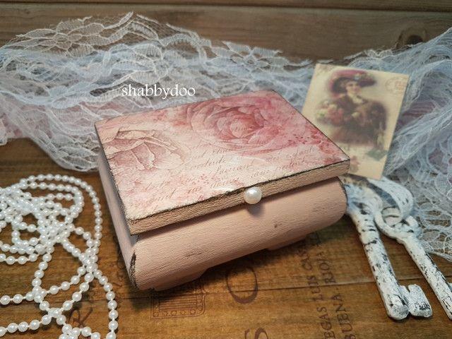 Schmuckkästchen - Schmuckkästchen Holz klein weiß Geschenk shabby - ein Designerstück von shabbydoo bei DaWanda