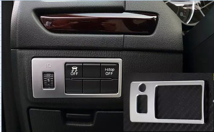 Auto inerior accessories, light switch button trim sticker for Mazda 3 2014 2015,Type A ,auto accessories