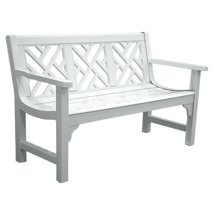 Outdoor Innova Chippendale 4 ft. Cast Aluminum Park Bench - White - C612-03