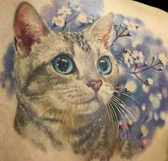 Cute kitty tattoo idea.