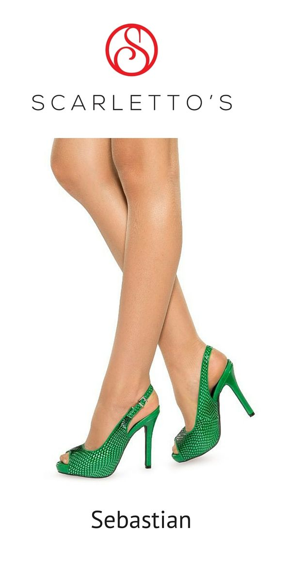 $149. Two words, ultra-feminine and glamorous! Elevate your look with these forest green Sling-back stilettos destined to make your friends green with envy.  Featuring the Scarletto's unique snake skin texture, the deep green Sebastians will liven up your wardrobe all year round. Feel glamorous and confident teaming them with bold bright colours, but be ready for the attention, they are guaranteed to turn heads! http://scarlettos.com.au/sebastian/