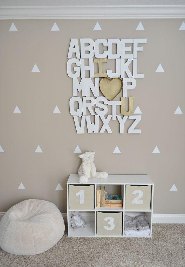 Letras Decorativas na decoração do quarto tumblr