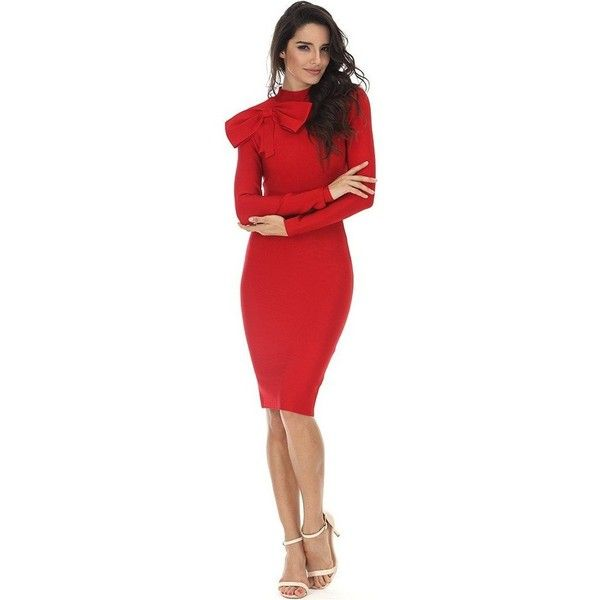 Red banded dress