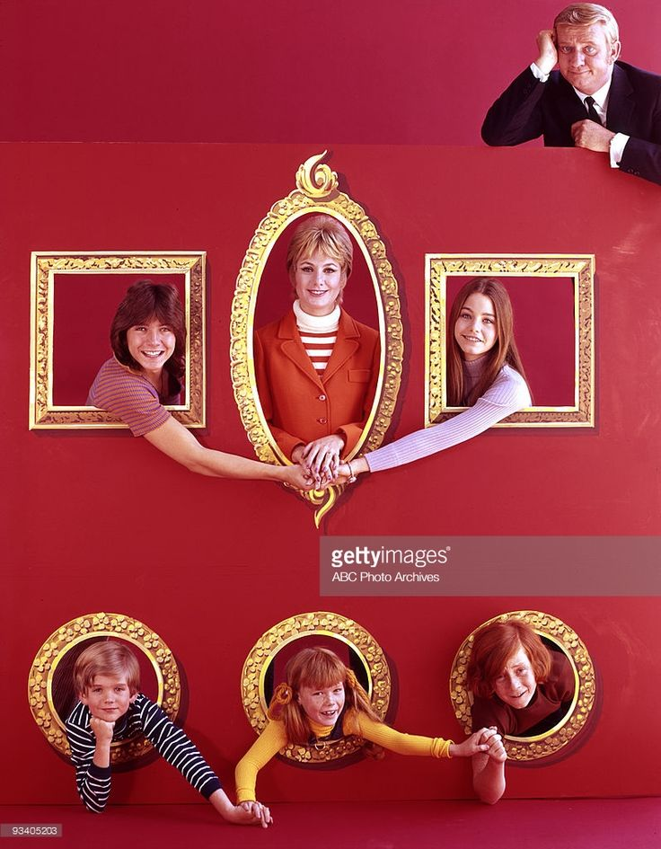 FAMILY - gallery - Season Two - 9/17/71, Pictured, top right: Dave Madden: center: David Cassidy, Shirley Jones, Susan Dey; bottom: Brian Forster, Suzanne Crough, Danny Bonaduce,