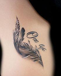 Feather tattoo. Um wow