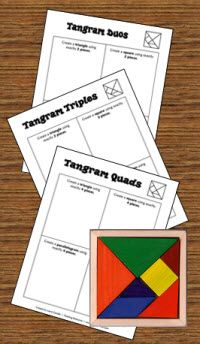 Easy tangram challenges for kids (Free)