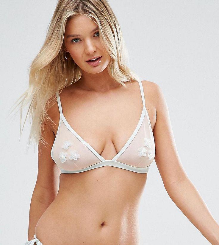 Peek & Beau - Haut de bikini à motif appliqué, bonnets B à F - Multi