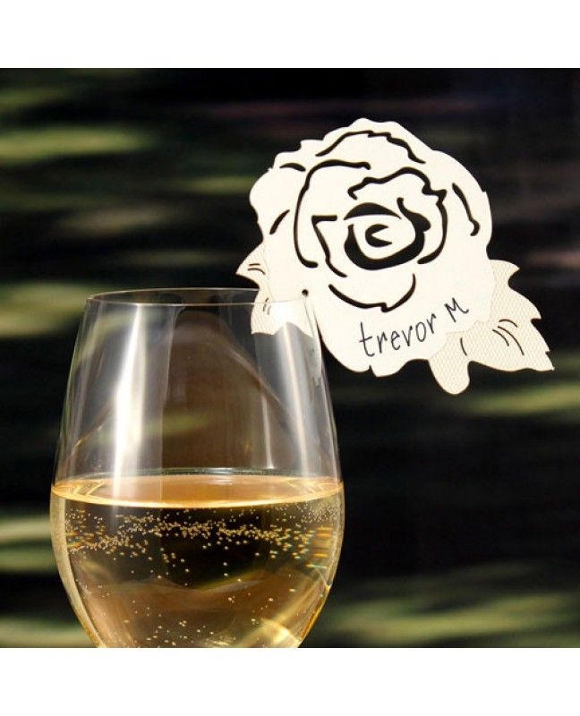 Die Cut Rose Glass Wedding Accessory www.mybridalsupply.com