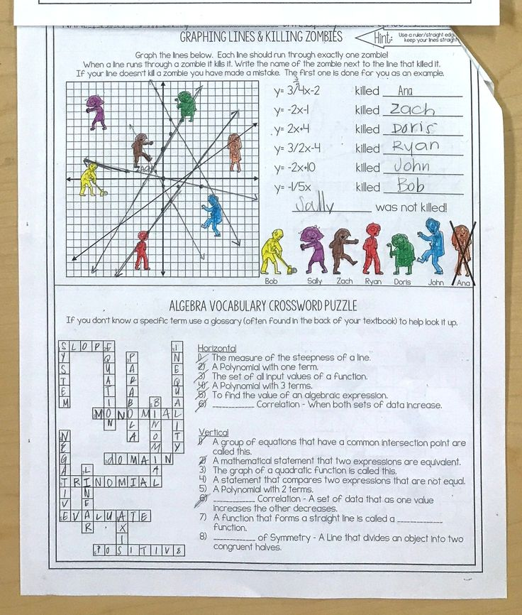 zombie alge math worksheet zombie best free printable worksheets. Black Bedroom Furniture Sets. Home Design Ideas