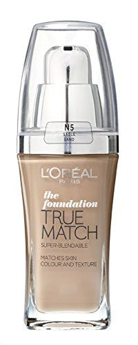 From 6.90 L'oreal Paris True Match Foundation - 30 Ml Sand (number N5)