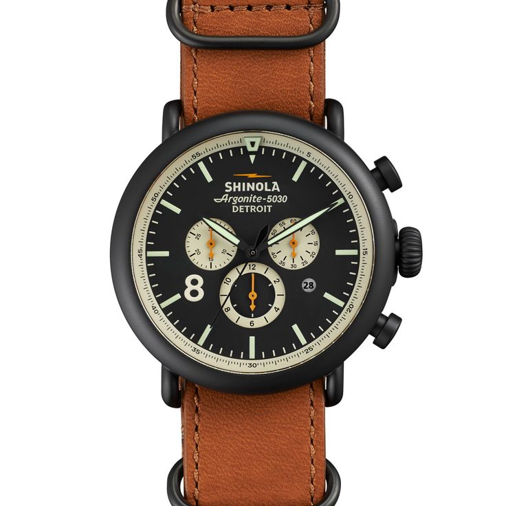 Shinola The Runwell Chrono 47mm Watch With Stainless Steel Strap 20001117