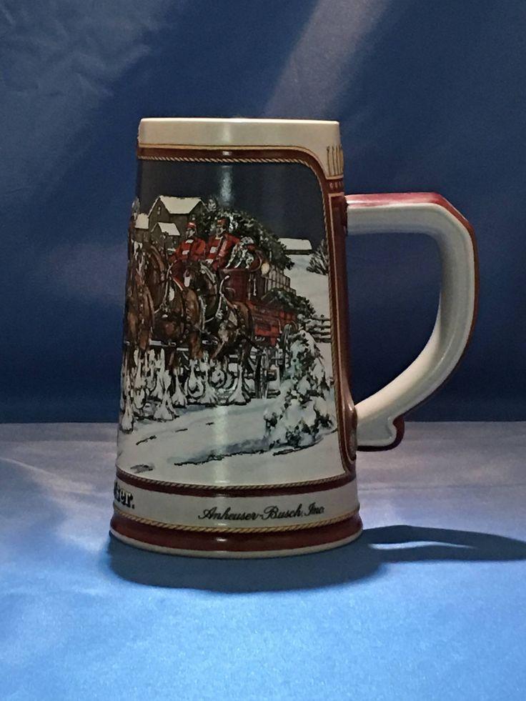 Winter Evening - No Box - Anheuser-Busch Ceramarte Collector Christmas Stein 1989 by TreasuresbyJoeL on Etsy