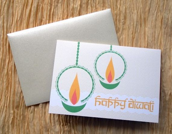 Diwali Homemade Greeting Cards Ideas_44