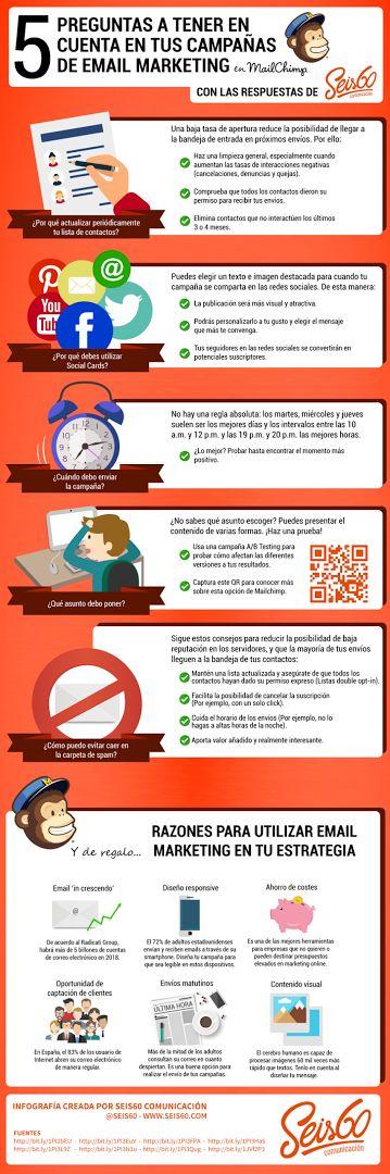 Foto: 5 preguntas para tus campañas con MailChimp #marketing #email