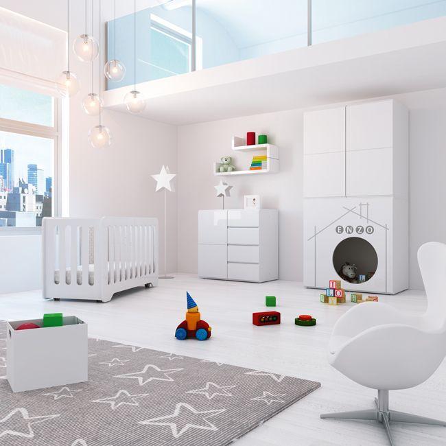 Habitaciones infantiles completas en color blanco de dise o y con encanto especial para beb s - Diseno de habitaciones infantiles ...