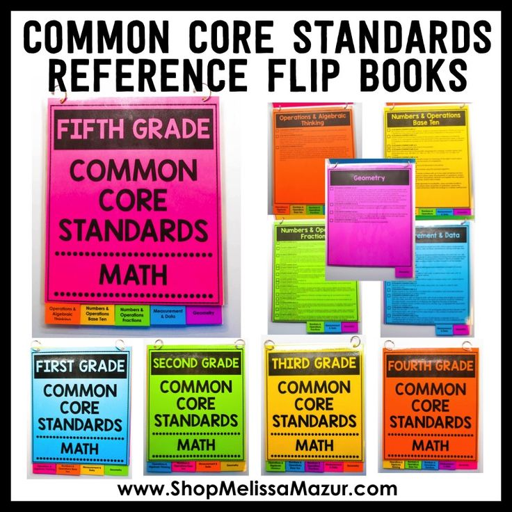 Do you need help staying organized with the common core? These flip books help you keep track of all the math standards!
