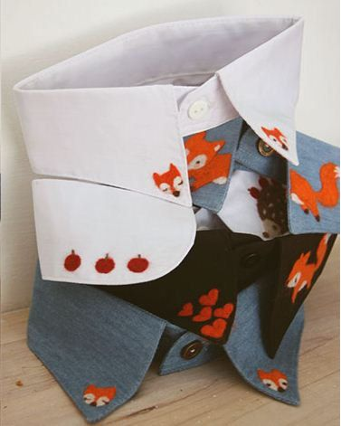 """Once upon a time Collection. Stories, fairies, tales, animals, wonderland.  To those still believe.   Fox, hedgehog, snowman, forest blue black white handmade collar multiple color to choose, price varies, please click """"color"""" option.     The items in the shop take time to finish, the time ..."""