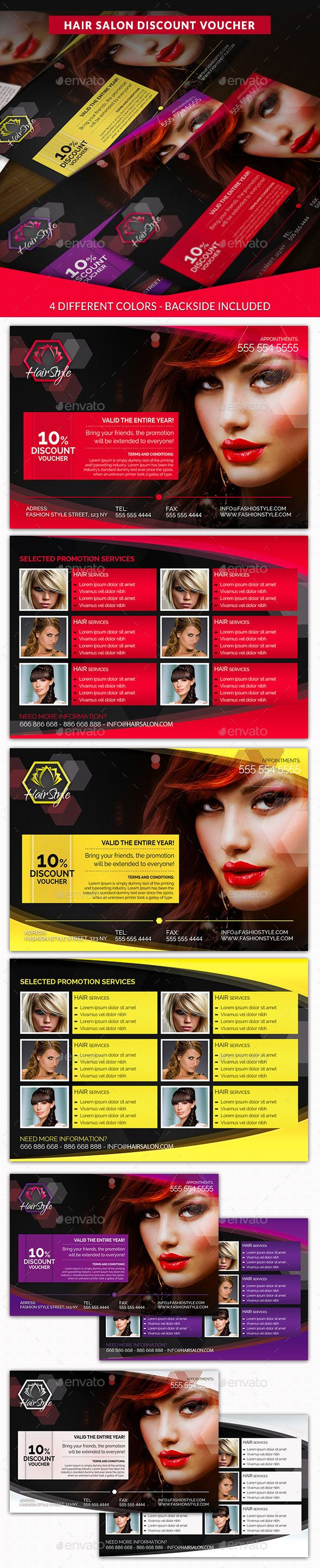Hair Salon Fashion Style Discount Voucher