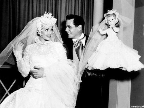 Lucille ball wedding dress images