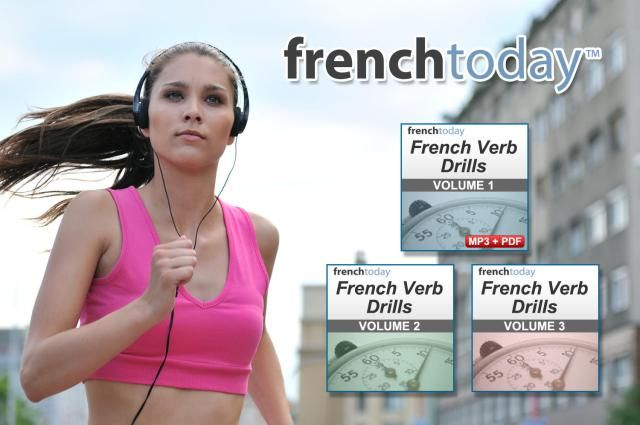 French Today's French Verb Drills audiobook series is designed to help French students learn irregular French verbs forms and modern pronunciation.