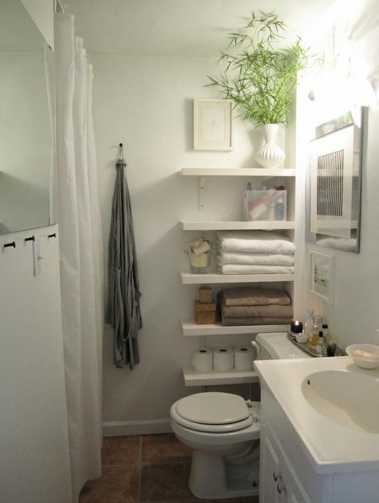 Förvaring för små badrum