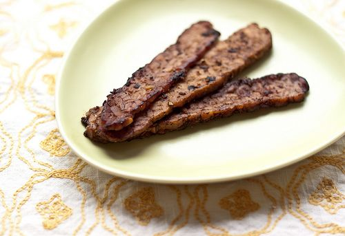 Our smoky tempeh recipe is reminiscent of the flavor of bacon, but is vegan friendly.