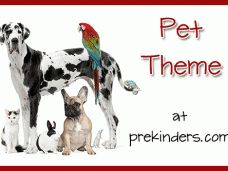 Caring for Pets theme - Prekinders