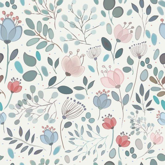 Removable Wallpaper Floral Wallpaper Watercolor Floral Blush