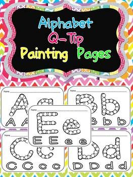 Fun Literacy Center/ Word Work Station!!     Q-Tip Painting Pages for Letters :$