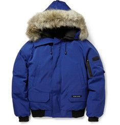 Canada GooseChilliwack Coyote-Trimmed Down-Filled Bomber Jacket