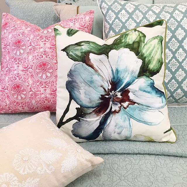 Pretty in pastel...can't help loving pretty things 🌸 #pastel #pretty #cushions #decor #Melbourne #retail #ivanhoe #ivanhoevillage
