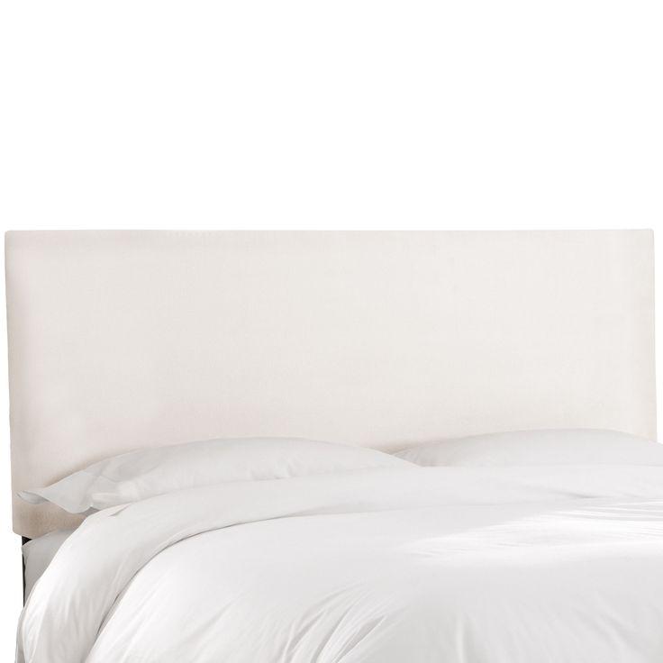Skyline Furniture Premier White Upholstered Headboard California King