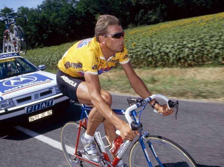1994 8/7 rit 6 > Sean Yates reed in zijn carrière 1 dag in de gele trui