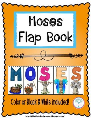 Bible Fun For Kids: Flap Book: Moses                                                                                                                                                                                 More